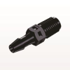 Straight Connector, Barbed, Black -- N2S531 -Image