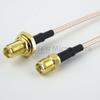 SMA Female Bulkhead to SMA Female Cable RG-316 Coax in 12 Inch -- FMC1213315-12 -Image