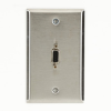 A/V Stainless Wallplate - Single-Gang, (1) VGA HD15 F/F Feed-Through Coupler -- WPVGA03-R2 - Image
