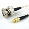 MCX Plug to BNC Male Cable RG-316 Coax in 24 Inch and RoHS with LF Solder -- FMC0708315LF-24 -Image