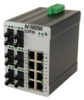 114FX6 Unmanaged Industrial Ethernet Switch, ST 2km -- 114FX6-ST -Image