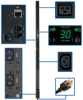 TAA Compliant Single-Phase Monitored PDU, 5/5.8kW 30A 208/240V, 0U Vertical Rackmount, 36 C13 & 6 C19 Outlets, NEMA L6-30P Input Plug -- PDUMNV30HV2TAA