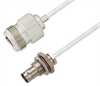 BNC Female Bulkhead to N Female Cable Assembly using LC085TB Coax, 4 FT -- LCCA30574-FT4 -Image