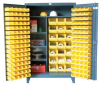 Bin Storage Cabinet with Wardrobe Style Shelves -- 46-BSCW-241-3WLR - Image