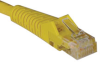 Cat5e 350MHz Snagless Molded Patch Cable (RJ45 M/M) - Yellow, 50-ft. -- N001-050-YW