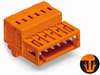 Male header (for PCBs); with snap-in mounting foot -- 734-349/018-000
