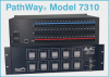 10-Channel, Dual Channel RJ45 Cat5e A/B Switch w/Telnet, Keylock -- Model 7310 - Image