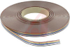 Cable, Flat Ribbon, 10 Conductor, 28AWG, Stranded, PVC, 300V, Color Coded -- 70216279