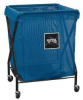 Laundry Hamper Cart,8 Bushel,Mesh,Blue -- G00BLXMA