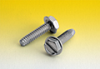Slotted Indented Hex Washer Thread Cutting Screws Type F -- 10C75TYF4/SW