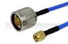 N Male to SMA Male Cable FM-F141 Coax in 6 Inch -- FMC0102141-06 -Image