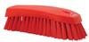 scrub brush w/stiff bristle red -- 61988 -- View Larger Image