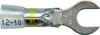 32938 Crystal Clear Heat Shrink Spade Connector, 12-10GA, #1/4 Stud, Yellow Stripe -- 32938