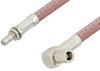 SMB Plug Right Angle to SMB Jack Bulkhead Cable 48 Inch Length Using RG142 Coax, RoHS -- PE34471LF-48 -Image