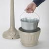Standard LitterMate Plastic Waste Container -- GPR10607-BEIGE