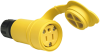 Watertight Rubber Housing Connector, Yellow -- 15W47