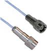 TRS SUBMINIATURE THREADED FULL CRIMP PLUG TO TRS THREADED FULL CRIMP PLUG M17/176-00002 .129 O.D. CABLE -- MP-2482-24 -Image
