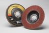 3M Cubitron II 967A Type 27 Coated Ceramic Aluminum Oxide Flap Disc - 80 Grit - 4 1/2 in Diameter - 55607 -- 051141-55607 - Image