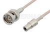 75 Ohm Mini SMB Plug to 75 Ohm BNC Male Cable 24 Inch Length Using 75 Ohm RG179 Coax, RoHS -- PE34703LF-24 -Image