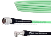 Low Loss Test RA SMA Male to N Male Cable LL335i Coax in 48 Inch and RoHS -- FMCA1287-48 -Image