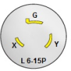 Nema L 6-15P Twist Lock Plug -- WS-123-Image
