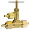 Cooler Valve (Tee with 1/4 in. Tube Needle Valve with Universal Nuts) -- No. 9192-EVP - Image