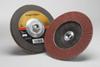 3M Cubitron II 967A Type 27 Coated Ceramic Aluminum Oxide Flap Disc - 80 Grit - 7 in Diameter - 55610 -- 051141-55610 - Image