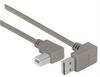 Right Angle USB Cable, Down Angle A Male/ Left Angle B Male, 0.75m -- CA90DA-90LB-075M -Image