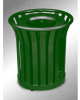 Americana Open Top Outdoor Metal Trash Can -- GPR409-GREEN