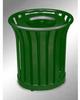 Americana Open Top Outdoor Metal Trash Can -- GPR409-GREEN