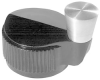 CRANK HANDLE ROUND KNOB, 6.35MM -- 83F7392 - Image