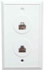 RJ45 8P8C Keyed Double Wall Plate with Screw Terminal -- 68WP-42 - Image