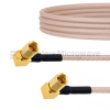 RA SSMC Plug to RA SSMC Plug Cable RG316 Coax in 6 Inch -- FMCA1467-6 -Image