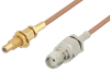 SMA Female to SSMC Jack Bulkhead Cable 6 Inch Length Using RG178 Coax -- PE3C4394-6 -Image