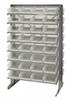 Bins & Systems - Clear-View Bins - Economy Shelf Bins - Sloped Shelving - Double Sided Pick Racks - QPRD-107CL - Image