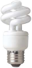 Screw-In CFL, 9W, T3, Medium -- 12T269