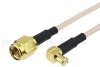 RA MCX Male to SMA Male Cable RG-316 Coax in 6 Inch -- FMC1732315-06 -Image