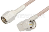 SMA Male to SMA Male Right Angle Cable 12 Inch Length Using RG316 Coax -- PE3513-12 -Image