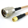 N Male to SMA Male Cable RG-142 Coax in 36 Inch and RoHS Compliant -- FMC0102143LF-36 -- View Larger Image