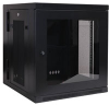 SmartRack 12U Wall-Mount Rack Enclosure Cabinet with Plexiglas® Front Door Insert -- SRW12USG