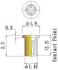 Thru Hole Short type, Round Socket Pin -- 866-F19L23-GG - Image