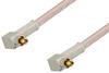 MC-Card Plug Right Angle to MC-Card Plug Right Angle Cable 12 Inch Length Using RG316 Coax -- PE36130-12 -Image