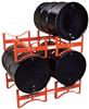 Stackable Rack For (2) 55 gal. Steel Tight-Head Drums, 1600 lb. Load Capacity, 1 each Drum Dollies, Pumps & Accessories DRM237 -- DRM237