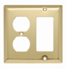 Combination Openings, 1 Duplex Receptacle & 1 Decorator -- SB826PB - Image