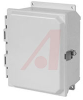 Enclosure;Polyester;NEMA 4X;Snap Latch;Hinged Cover;Solid Door;14.05x12.27x6.13 -- 70165390