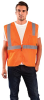 Occunomix Value ECO-IMZ Orange XL Polyester Mesh Standard Vest - 2 Pockets - Fits 44 in Chest - 021844-61140 -- 021844-61140