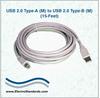 USB 2.0 Type A (M) to USB 2.0 Type B (M), 15 Feet -- 507368 -Image