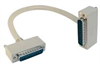 Deluxe Molded D-Sub Cable, DB25 Male / Right Angle Exit 3 Male, 5.0 ft -- CSMNRA25-3MM-5 -Image