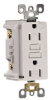 LEVITON GFCI RECEPTACLE WEATHER RESIST WHITE 125V -- 606770