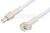 MCX Plug to MCX Plug Right Angle Cable 72 Inch Length Using RG188 Coax -- PE3309-72 -Image